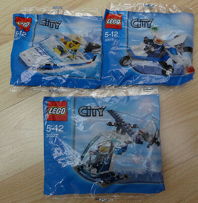 Lego 30222 & 30018 & 30017 - Lego City Police -  Brand new poly bags