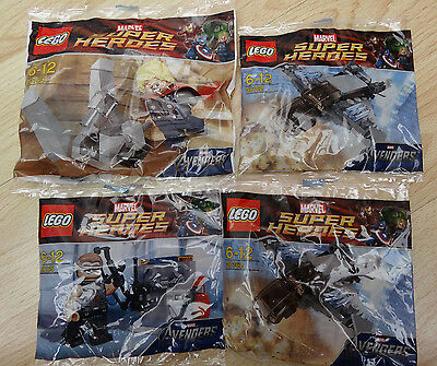 Lego 30163+30165+30162 x2 - Marvel Super heroes - Avengers - Brand new poly bags