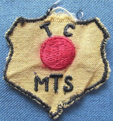 """Original WWII US Army """"Red Ball Express"""" shoulder patch, removed from uniform"""