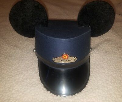 DISNEY PARKS Mickey Mouse TRAIN Trolley CONDUCTORS Hat Halloween Costume RARE