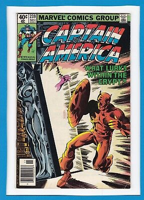 """Captain America #239_Nov 1979_Fine+_""""what Lurks Within The Crypt""""_Bronze Age!"""