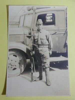 WW2 Japanese Army Picture of the military truck driver.