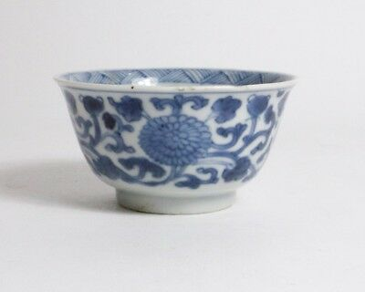 Antique Chinese blue and white porcelain tea bowl
