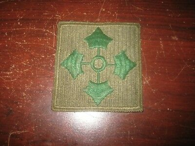 Early WWII Vintage Large Square US ARMY 4th INFANTRY DIVISION PATCH