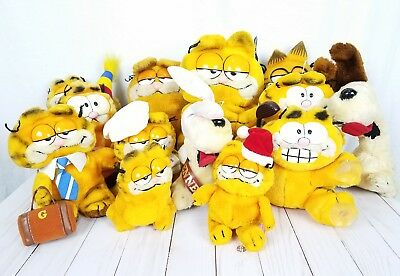 Vintage Collectible Garfield Odie Plush Stuffed Animal Lot of 13