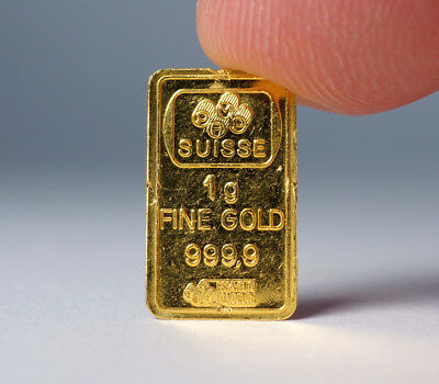 1 Gram 999.9 Gold PAMP SUISSE - Lady Fortuna Bar ex. jewelry