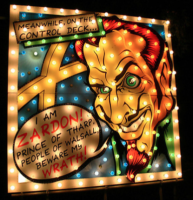 vintage circus fairground festival 10 ft signs Walsall Illuminations ZARDON
