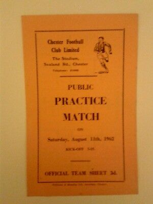 Chester FC Trial match Blue and whites v Greens 1962/3