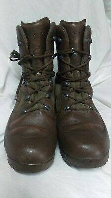 Hiax British Military Issue Brown Leather Boots Sz 12w Army Cadet MTP Work