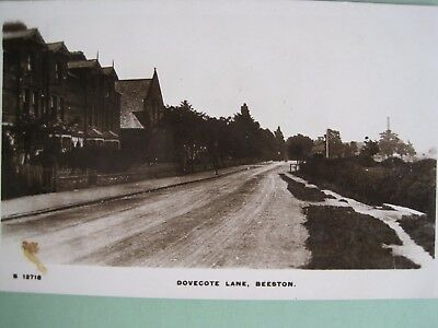 Derbyshire;    Dovecote Lane,  Beeston.      Real Photographic Postcard.