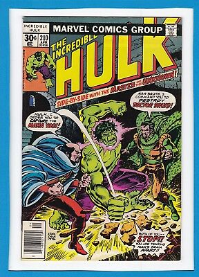 "Incredible Hulk #210_Apr 1977_Vf Minus_""and Call The Doctor...druid""_Bronze Age!"