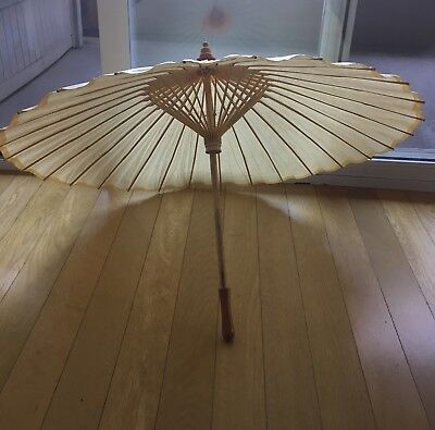 Paper Parasol Ivory Umbrella Brand new, In Plastic