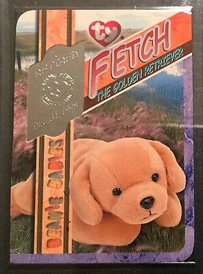 Ty Beanie Babies Series 4 Silver Retired Fetch Card 466/3528