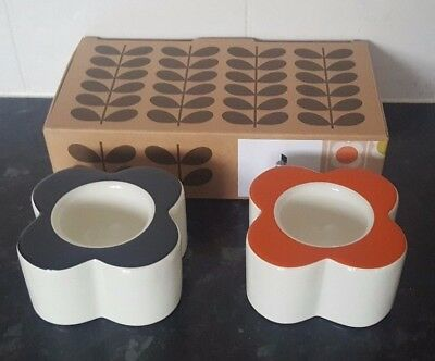Brand New Orla Kiely Abacus Flower Egg Cups - Set of 2