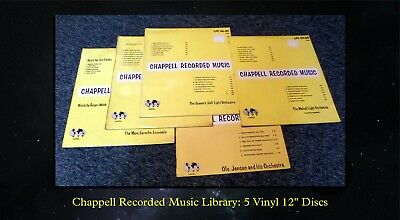 Chappell Recorded Music Library: Five Discs (Probably Ex-Bbc Gram Library)