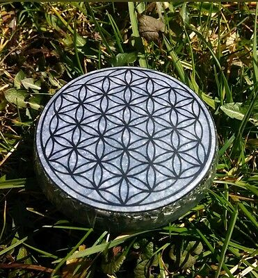 Orgone / Orgonite Plate Sacred Geometry Flower of life / Protecting your home 2
