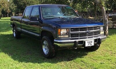 2000 Chevrolet 3500 Double Cab Pick up 6.5 Turbo Diesel Hummer Wheels