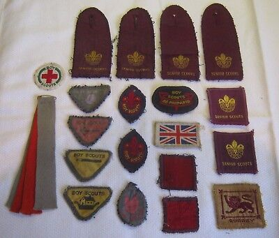 COLLECTION OF x20 VINTAGE BOY SCOUT BADGES circa 1930s