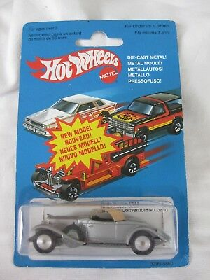 Hotwheels French 1981, 1931 Rolls Royce Made In France Opened Carded