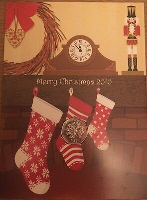 2010 Gibraltar 50p BUNC Christmas Coin,PARTRIDGE IN A PEAR Sealed in a Xmas Card