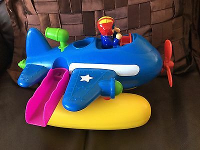 Child's Toy Sea Plane Size 30 X 20cm Approx No Batteries Suit 2/4 Years