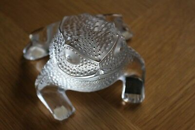 """Signed Lalique """"gregorie"""" Toad - Handcrafted In France 1164000"""