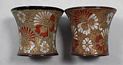 A pair of Royal  Doulton 'Slaters Patent' ceramic vases, English c.1900