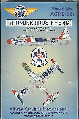 Airway Graphics Decal AGM8-001 F-84G Thunderjet Thunderbirds decal in 1:48 Scale