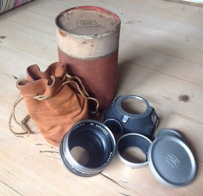 Vintage Zeiss Ikon 1.7 Lens & Accessories in Original Leather Bag and Case VGC