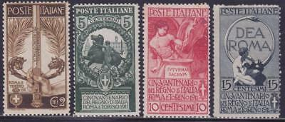 ITALY 1911 Italian Unification set 4v MNH Fresh B14345