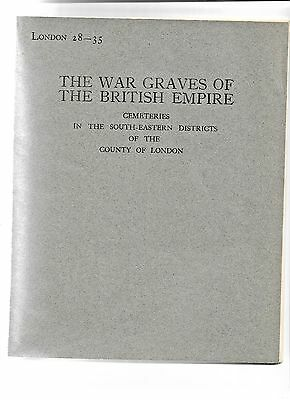1930 A register The War Graves of British empire Cemeteries in SE London 28-35