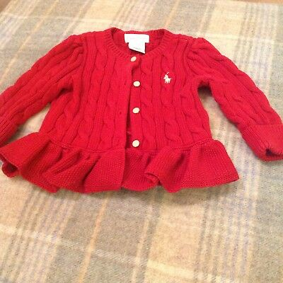 Girls Ralph Lauren Cardigan 6 mths 100% genuine