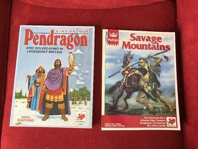 Pendragon Epic Roleplaying in Legendary Britain + Savage Mountains Chaosium
