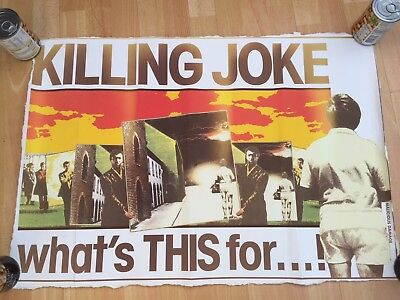 KILLING JOKE ORIGINAL WHATS THIS FOR PROMO POSTER theatre of hate play dead