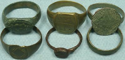 Lot Of 6 Ancient Bronze / Iron Rings