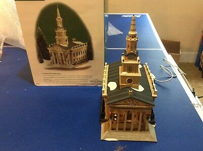 DEPT 56 DICKENS' ST. MARTIN-IN-THE-FIELDS CHURCH in BOX Light works great    022