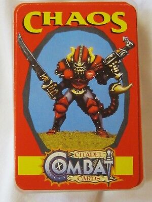 Pack Of Chaos Citadel Combat Cards 35 Cards Plus Title Card In Plastic Box