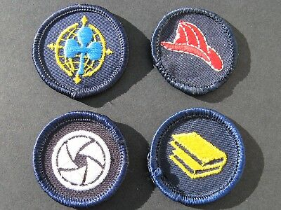 Girl Guides Canada  4 Merit Badges Patch Scouts Fire Reading Photography