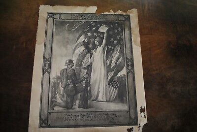 WWI Original Wounded In Action Certificate Columbia Pre Purple Heart