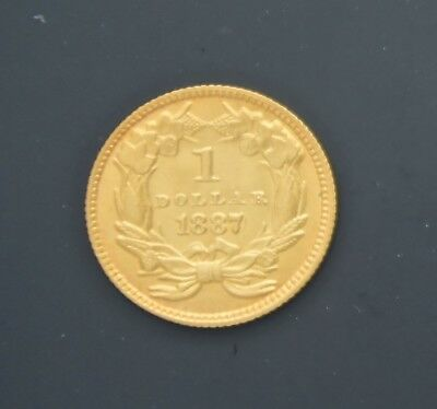 1887 $1 Liberty Gold Dollar Coin 7,500 Minted FREE Shipping