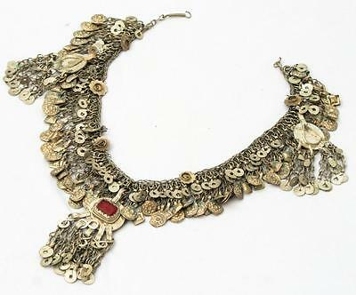 Tribal Kuchi Metal Beads Gypsy Rare Belly Dance Banjara Chain Necklace