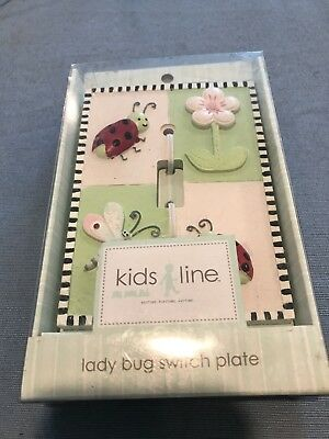 Lady Bug Switch Plate for Kids Room, NIB