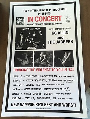 Poster GG Allin And The Jabbers