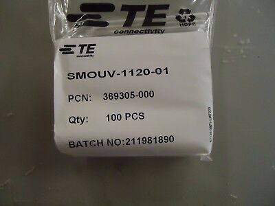 TE Connectivity SMOUV-1120-01 FIBER SLEEVES 60mm 1 PACK OF 100 369305-000