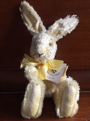 "CANTERBURY BEAR ""Buttercup"" Mohair Yellow Rabbit Year 2000 RRP £85 399 Of 500"