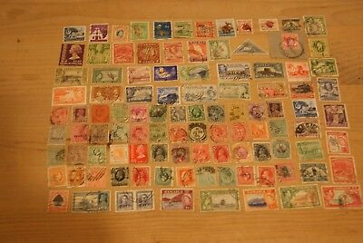 100 Early & Vintage GB Colonies Commonwealth Postage Stamps - unchecked
