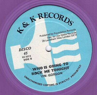 """"""" WHO IS GOING TO LOVE ME."""" the albians. K & K RECORDS 12in 1980."""