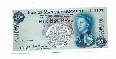 Isle of Man (P28a) 50 New Pence 1972 aUNC