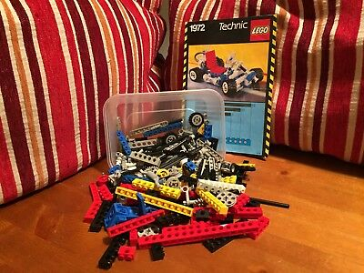 Vintage LEGO Technic bricks/parts bundle + instruction manual Go-Kart 1972