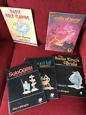 Runequest Rune Quest SoloQuest 1 2 3 + Cults of Terror Chaosium